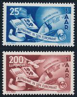 SAARLAND 1950, MiNr. 297-298, 297-98, tadellos postfrisch, Mi. 230,-