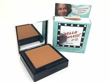 Benefit * Hello Flawless * Nutmeg Custom Powder Cover Up 0.25 oz Boxed