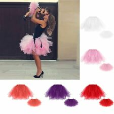 Womens Girls Adult Kids Ballet Tulle Tutu Skirt Princess Party Fancy Mini Dress