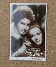 Robert Donat & Marlene Dietrich art photo  Real Photograph Postcard xc2
