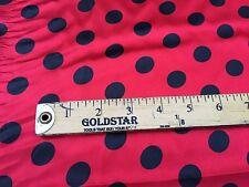 Red/Black 1/2inch Polka Dot Silky/Soft Charmeuse Satin Fabric. By The Yard.