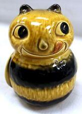Vintage Original Sylvac 5383 Bumble Bee Face Honey Pot - L28