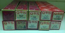 QRS Word Rolls KM ORGAN Rolls Lot of 10 Piano Rolls - USED CONDITION