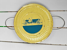 "VINTAGE STOVE PIPE FLUE COVER 8"" YELLOW AND BLUE"