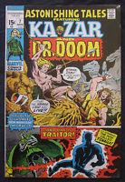 ASTONISHING TALES #7 1971 Marvel Comics 8.0 VF KA-ZAR Dr. Doom BLACK PANTHER