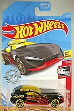 2019 Hot Wheels #121 Hw Rescue 1/10 Fast Master Black Variation w/Yellow J5 Sp