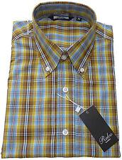 Relco Short Sleeve Shirt Ck7 Sky Blue/yellow/brown 60s Button Down Mod Skin XXL
