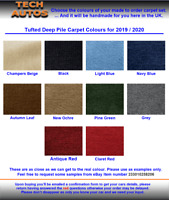 Samples Pack of Classic Car Carpet Material