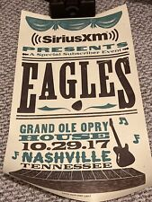 Eagles At Grand Ole Opry House 10/29/17 Official Hatch Show Print
