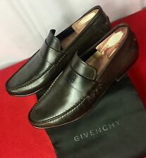Mens Black Givenchy Leather Loafers Shoes  Sz 10 UK 11 US 44 EU Made In ITALY