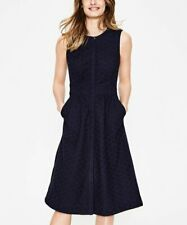 BODEN Damen  Blusenhemd Kleid Seitentaschen- Leila  Shirt Dress-Navy 10 P S 36