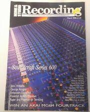 HOME & STUDIO RECORDING magazine March 1988 collectable