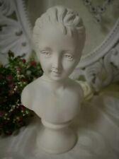 Büste Skulptur  11x21cm Antik Weiß Shabby Chic Landhaus Brocante Vintage