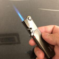 AM365 Windproof  Flint Wheel Lockable flame Torch Cigar Cigarette Lighter Gray