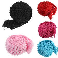 2 Metres Crochet Elastic Waistband Headband 1.5'' Width Hair Band Top Tutu Skirt