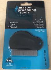 ~MASTER GROOMING TOOLS CONTOURED GRIP FLEA COMB~High quality