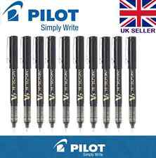 10 X Pilot Hi-Tecpoint V7 0.7mm Rollerball Bolígrafo de tinta líquida colores (negro)