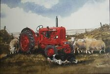 """Tractor greeting card-10/60 Diesel Nuffield - """"Forever Working"""""""