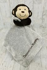Carters Bananas Over Mommy Monkey Security Blanket Grey Brown Satin Lovey