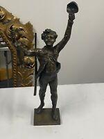 Rare Bronze Maurice Constant Mon Premier Lièvre Hauteur 55,9 Cm