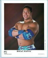 WWE ROCKY MAIVIA P-379 OFFICIAL LICENSED AUTHENTIC ORIGINAL 8X10 PROMO PHOTO