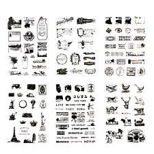 120 x Sticker im Vintage Style Reisen Sehenswürdigkeiten Post Stempel Tiere