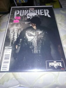 Punisher #218F, John Bernthal Photo Cover, Frank Dons War Machine Armor, NM,2017