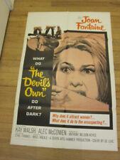 DEVIL'S OWN original 1969 poster Hammer horror Joan Fontaine