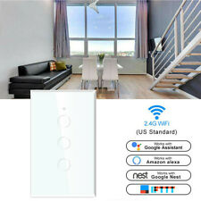 WiFi Smart Curtain Switch Wall Light Touch Remote Panel For Alexa Google Home US