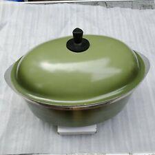 Club Vintage Aluminum Cookware Oval Roaster Dutch Oven Avocado Green