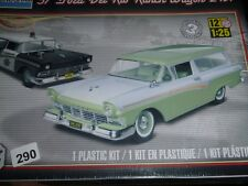 Monogram 1957 Ford Del Rio Ranch Station Wagon 2n1 1/25 MODEL CAR MOUNTAIN FS
