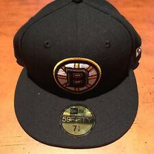 boston bruins hat. New Era. Fitted. 71/4. NWT