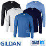Gildan 3 x MEN'S LONG SLEEVE T-SHIRT COTTON CAUSAL PLAIN TOPS MULTIPACK FREE P&P