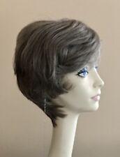 NWT! JACQUELYN Wig HUMAN HAIR Blend SANDRA 51 GRAY Monofilament Top