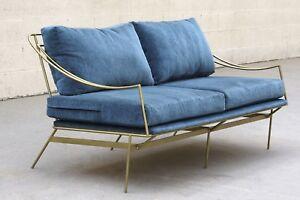 Custom 1960s Inspired Hairpin Sofa by Rehab Vintage Interiors