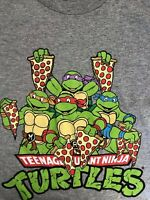 Teenage Mutant Ninja Turtles Youth Tshirt Size XLarge Gray Shirt ShortSleeve New