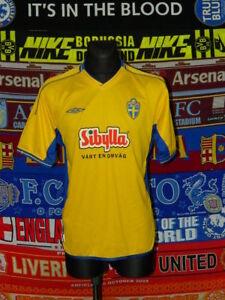 5/5 Sweden adults L MINT #10 football shirt jersey trikot soccer