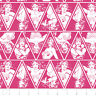 Warner Brothers Wonder Woman Triangles in Magenta 100% cotton fabric by the yard