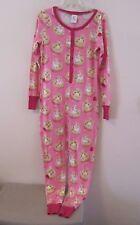 Munki Munki Pink w/Waffles & Strawberries Union Suit, Snap Up Pajamas PJs Sz S