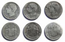 N152 SPAIN 1882*82, 1883, 1885,. 4,92 g. CALICO 20, 21, 24.