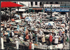 Caribbean Postcard - Guadeloupe - The Market at Pointe-a-Pitre   BT533