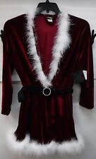 Seductive Wear Size Medium Santa Red Velvet Wrap Robe New Womens Intimates