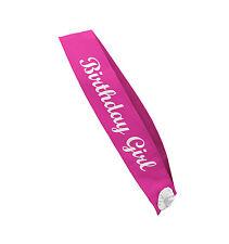 BIRTHDAY GIRL Schärpe pink Geburtstags kind Party Accessoire Deko JGA Geschenk