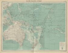 South Pacific Ocean. Oceania Polynesia Melanesia Micronesia. TIMES 1922 map
