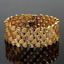 Damen Herren Gelbgold Armband Echt 24 Karat 999er Gold Vergoldet Armreif 20cm