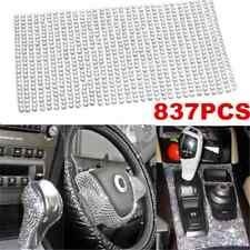 Bling 837PCS DIY Crystal Rhinestone Car Styling Sticker Decor Accessories 3mm