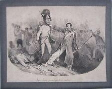 """""""Jean-Jean prend gout au métier"""" lithograph by Auguste Denis Raffet"""