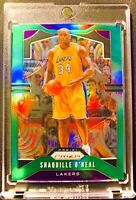 Shaquille O'Neal 2019-20 Panini Prizm Green Holo Prizms Refractor#11 SHAQ Lakers