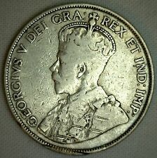 1914 Canada Silver 50 Cents Canadian Fifty Cent Coin You Grade - YG