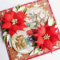 Stanzschablone 3D Blume Weihnachts Geburtstag Hochzeit Karte Album Einladung DIY